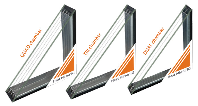 Three types of Eastman Heat mirror glass sold by Smart Windows Colorado
