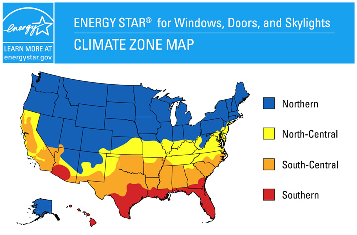 Energy Star Climate Zone Map - Smart Windows Colorado