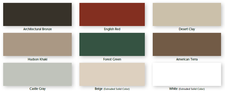 Available exterior colors of Alside Mezzo Windows sold by Smart Windows Colorado