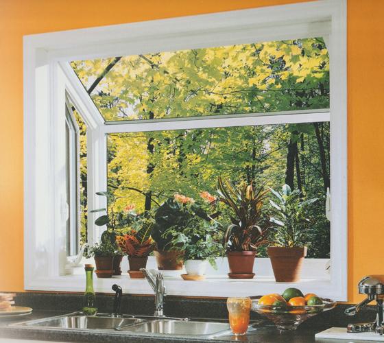 Garden Window Interior View with orange walls - Smart Windows Colorado