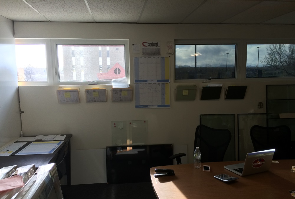 ravenwindow tint inside the office smart windows colorado