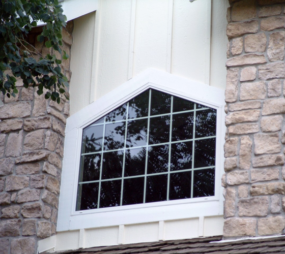 shapes and fixed picture windows by Smart Windows Colorado